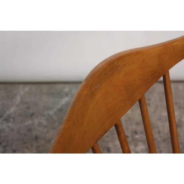 Pair of Conant Ball Spindle-Back Accent Chairs Attributed to Russel Wright - Image 8 of 10