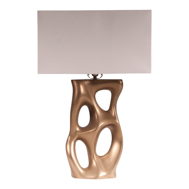 Amorph Loop Table Lamp - Gold For Sale
