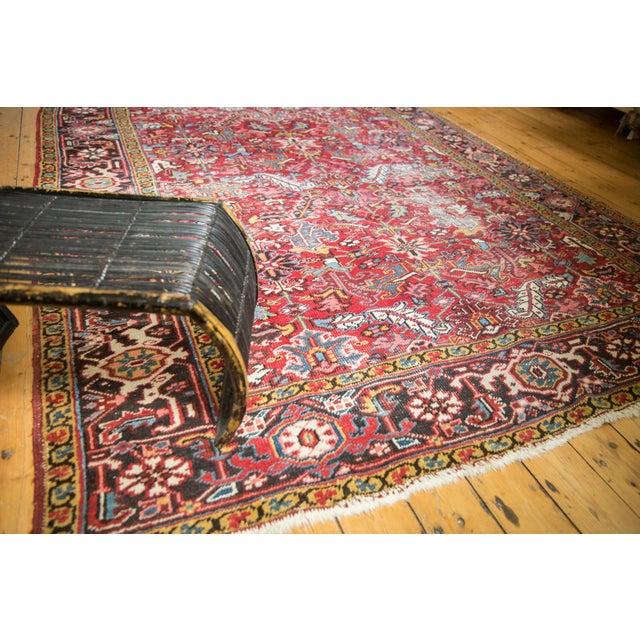 """Vintage Heriz Carpet- 7'6"""" X 10' For Sale In New York - Image 6 of 12"""