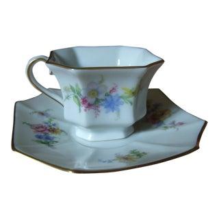 Vintage German Porcelain Demi-Tasse Cup & Saucer