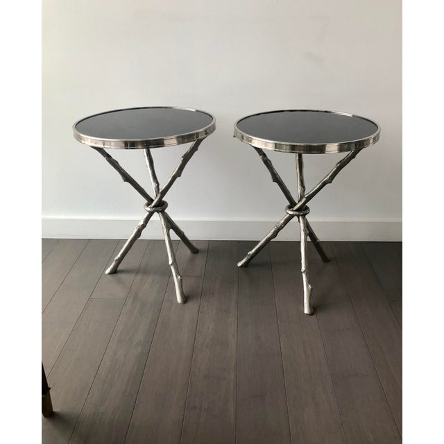 Twig Branch Tripod Accent Tables - a Pair For Sale - Image 12 of 12