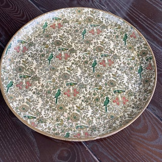 1950s Vintage Japanese Alcohol Proof Decoupage Parrot Bird Tray Preview