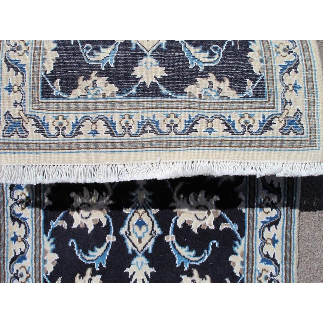 Persian Nain Wool & Silk Rug - 2' x 3' For Sale - Image 5 of 6