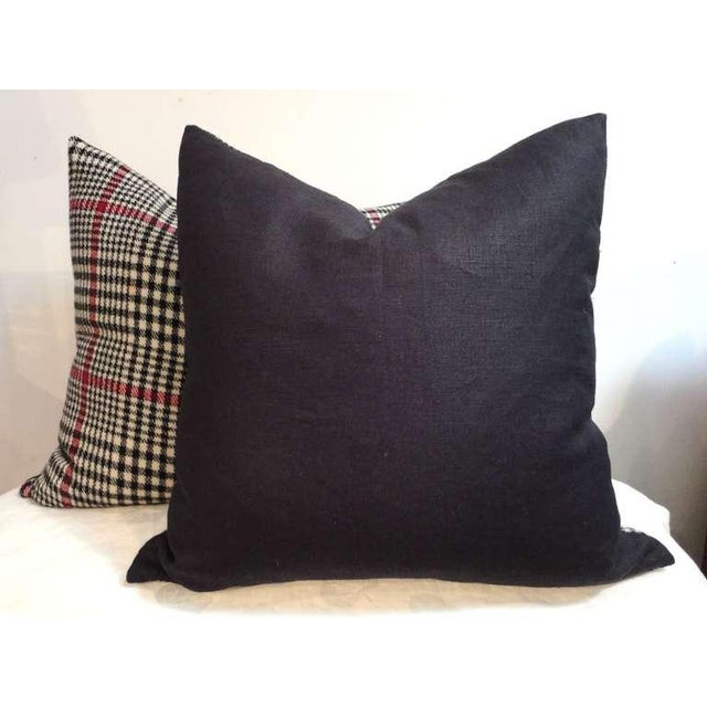 Country Pair of Pendleton Plaid Hounds Tooth Pillows For Sale - Image 3 of 4