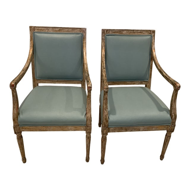 French Arm Chairs - a Pair For Sale