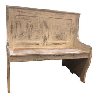 1920s Antique Double Sided Train Bench For Sale
