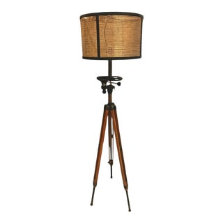 Antique Movie Camera Tripod Stand, Now as a Lamp For Sale