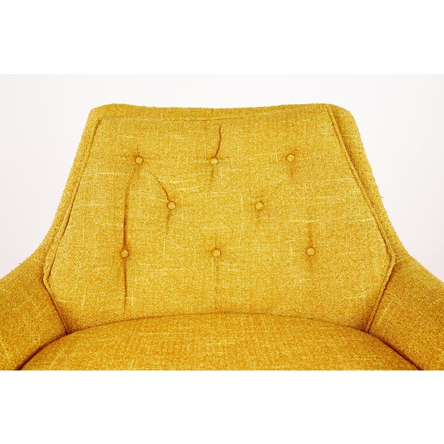Textile Adrian Pearsall Style Mid Century Swivel Lounge Chair For Sale - Image 7 of 10