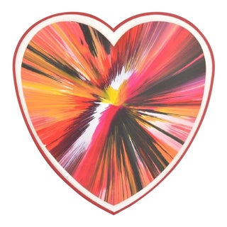 Damien Hirst Spin Art Heart, Ukraine, 2009 For Sale