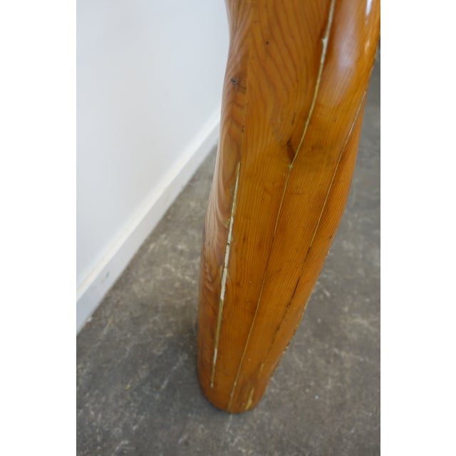 Studio Wooden Leg Scultpure For Sale In Cleveland - Image 6 of 11