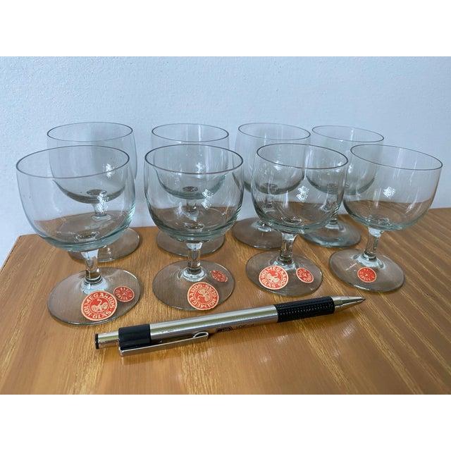 Mid-Century Modern Vintage 1950s Holmegaard Denmark Elsinore Smoke Glass Cordials Stemware - Set of 8 For Sale - Image 3 of 10
