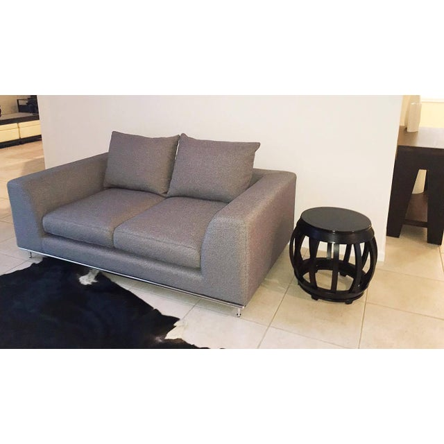 Tremendous Carlos Perazzi Hanna Gray Loveseat Pabps2019 Chair Design Images Pabps2019Com