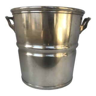 Vintage Art Deco Silver Plated Champagne Wine Cooler For Sale