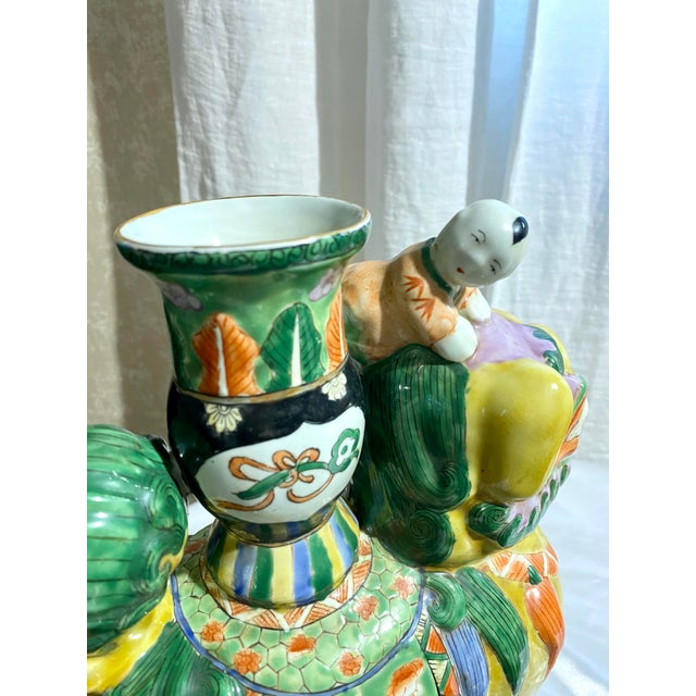 Chinese Foo Dog Candlesticks - a Pair For Sale In Philadelphia - Image 6 of 13