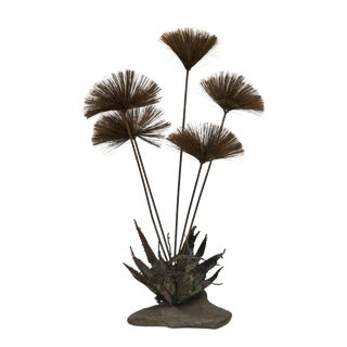 Pom-Pom Metal Table Sculpture, 1970s For Sale