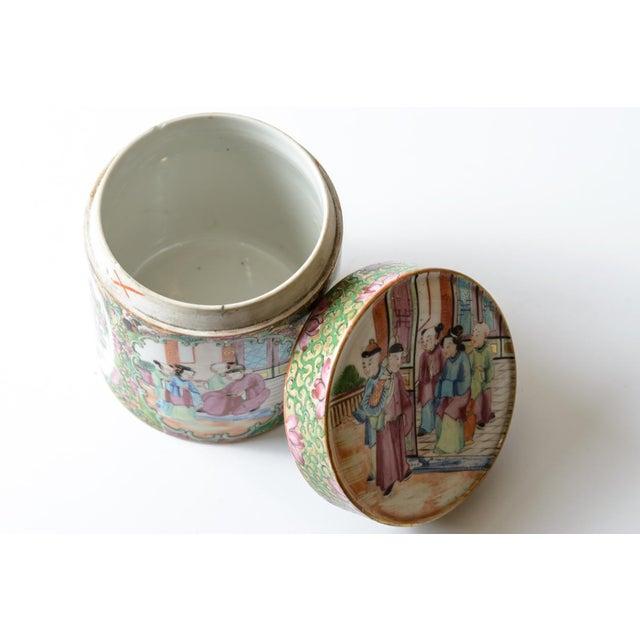 Asian Rose medallion covered jar For Sale - Image 3 of 5