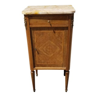 20th Century Neoclassical Burled Nightstand For Sale