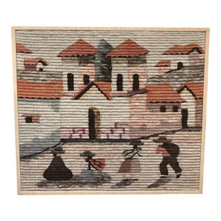 Framed Hand Woven Peruvian Textile Art For Sale