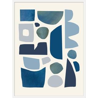 "Medium ""Symphony of Blue Cream"" Print by Kelly Knaga, 30"" X 40"" For Sale"