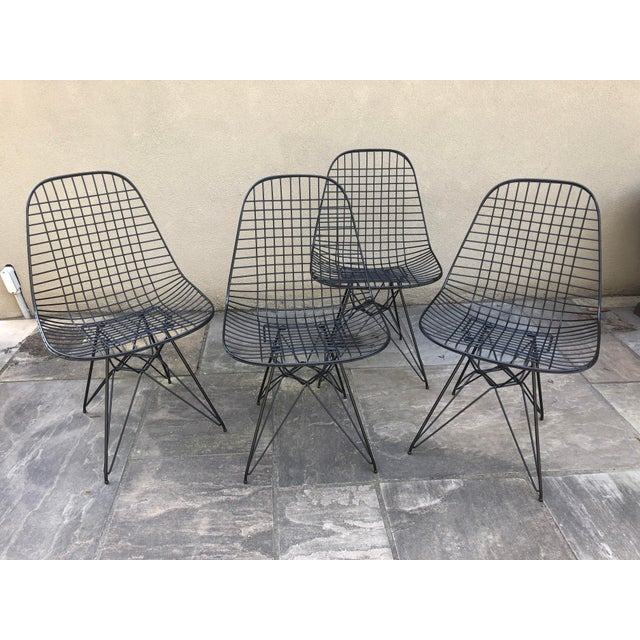 Mid 20th Century Herman Miller Eames Vintage Wire Chair Eiffel Original For Sale - Image 5 of 8