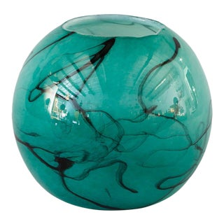 F. Silviy Contemporary French Hand Blown Glass Vase For Sale