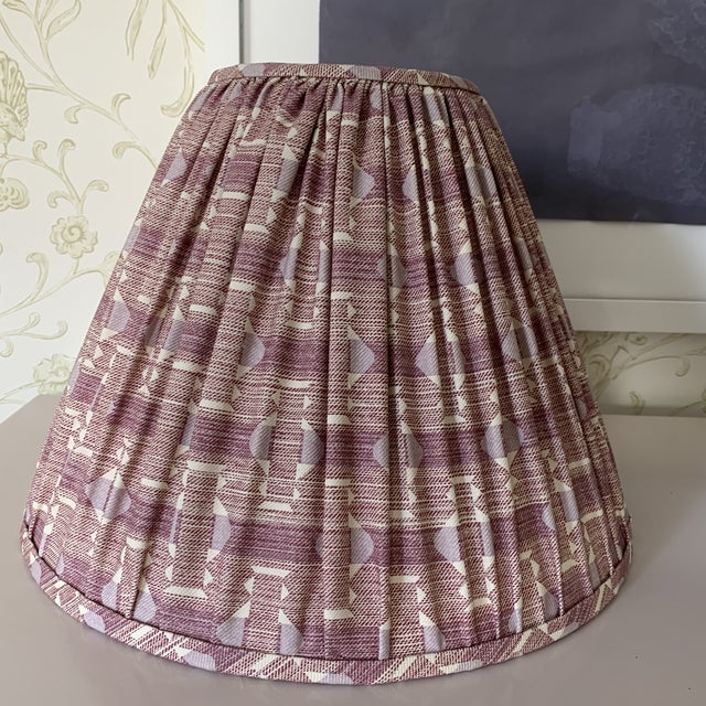 Plum Fermoie Pleated Lampshades- a Pair For Sale In New York - Image 6 of 6