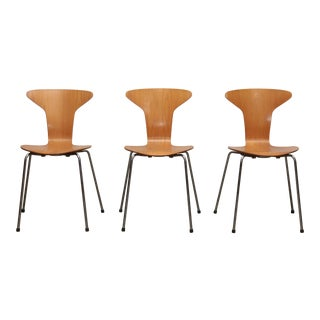 1950s Mosquito Munkegård Dining Chairs by Arne Jacobsen, Denmark - Set of 3 For Sale