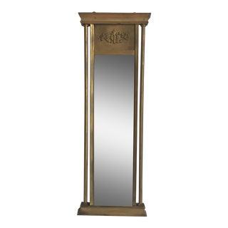 Brass Finish Petite Mirror