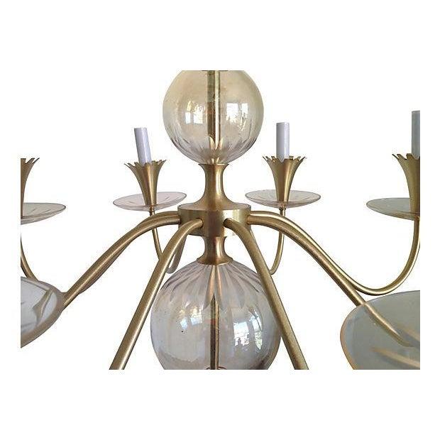Lightolier 1950s Bubble Glass Chandelier - Image 2 of 8