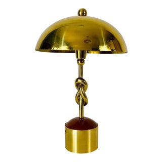 Heavy Italian Midcentury Solid Brass Table Lamp, 1960s, Italy For Sale