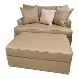 Love Seat With Pull Out & Ottoman For Sale