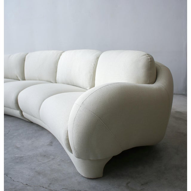 Textile 2 Piece Curved Post Modern Sofa by Preview Furniture For Sale - Image 7 of 9