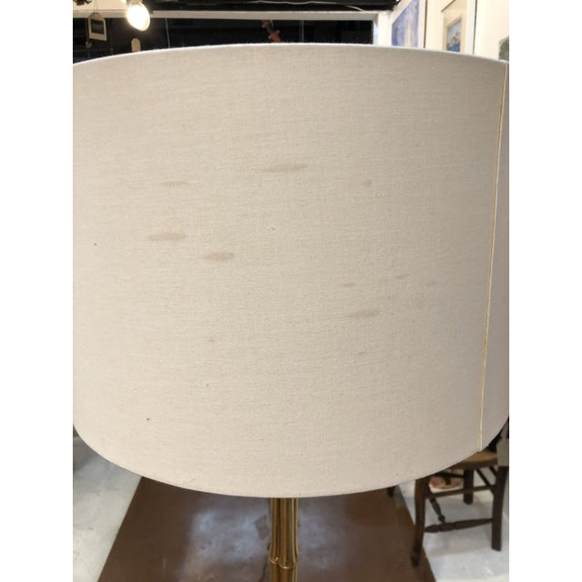 Contemporary Gilt Metal Bamboo Floor Lamp by Circa Lighting For Sale - Image 3 of 13