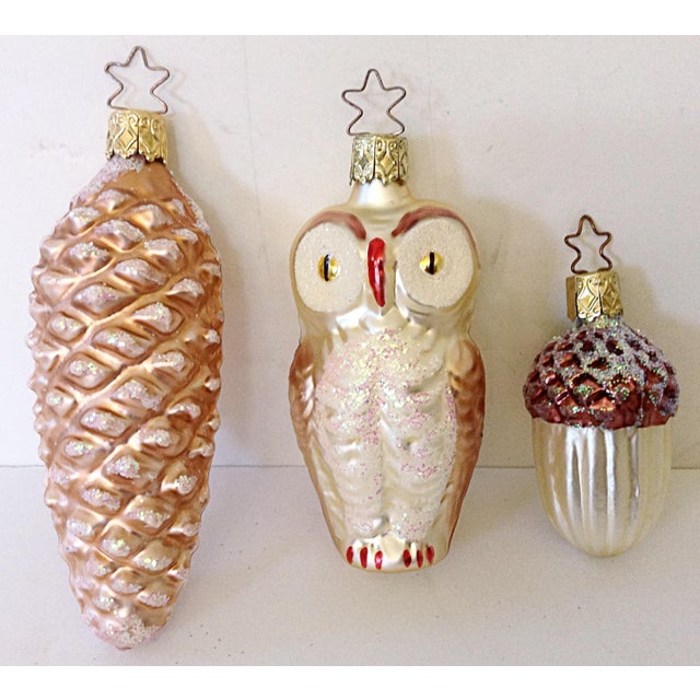 Old World Woodland Ornaments - Set of 3 - Image 2 of 3