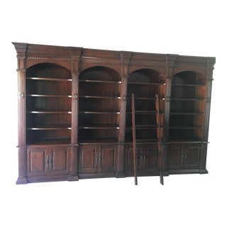French Heritage Bordeaux Library 4 Unit System & Ladder