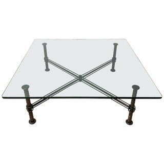 Ilana Goor Steel and Bronze Rebar Coffee or Cocktail Table, Signed For Sale
