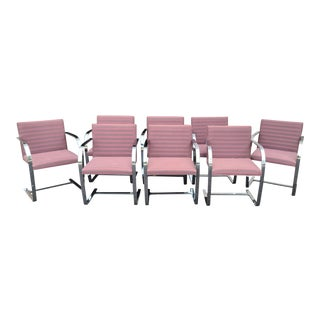 Set 8 Ludwig Mies Van Der Rohe Cantilever Brno Chairs ~ Gordon International For Sale
