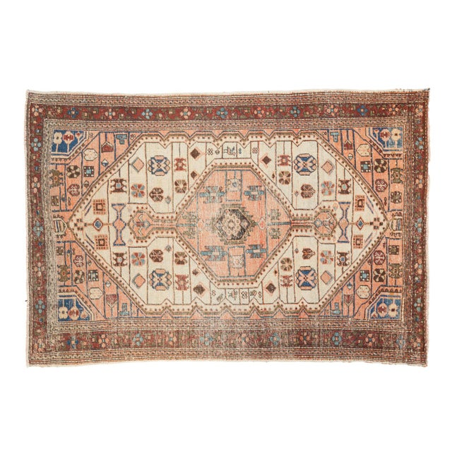 """Vintage Distressed Malayer Rug - 4'4"""" X 6'3"""" For Sale - Image 11 of 12"""