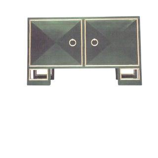 Truex American Furniture Green Lacquer St Regis Cabinet