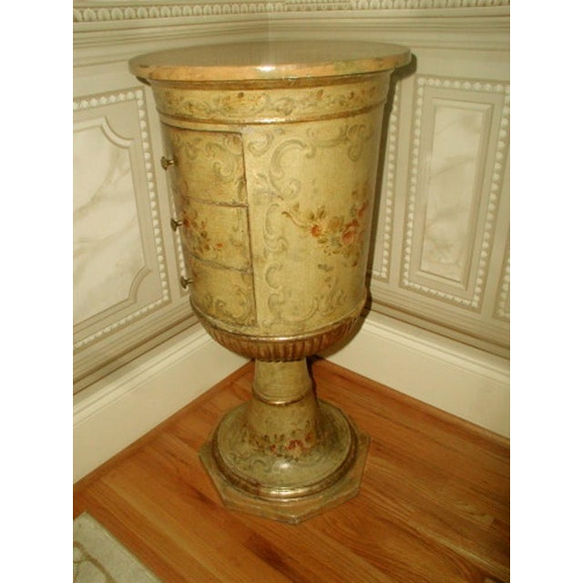 Picie Italian Hand Painted 19th C. Pedestal Table - Image 7 of 10