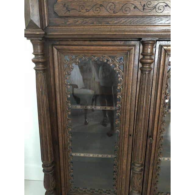 Traditional 19th Century Traditional Oak Bookcase For Sale - Image 3 of 4