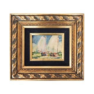 Florida Yacht Sailing, Watercolor by Jerry McClish