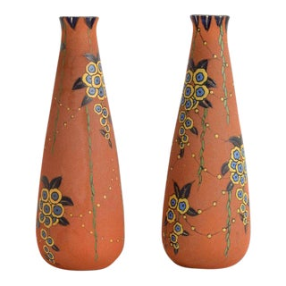 1930s Art Deco Auguste Heiligeinsten for Leune Vases - a Pair For Sale