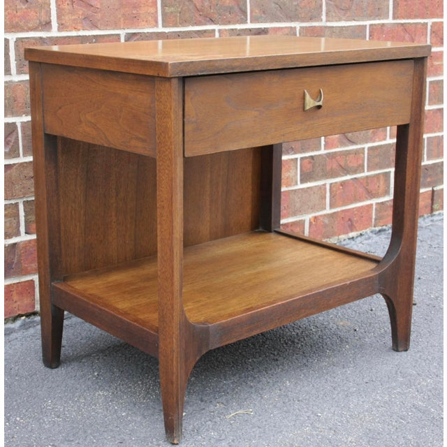Boho Chic Broyhill Brasilia Nightstand or Side Table For Sale - Image 3 of 11