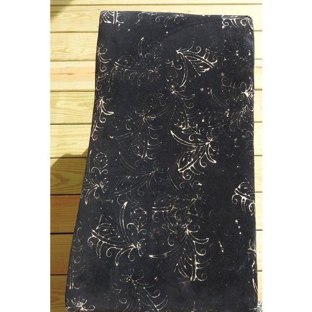 Mid-Century Modern Mid-Century Modern Custom Velvet Upholstery Bench For Sale - Image 3 of 7