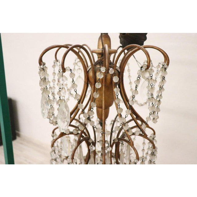 20th Century Louis XVI Style Gilded Bronze and Crystals Large Luxury Chandelier For Sale - Image 10 of 11