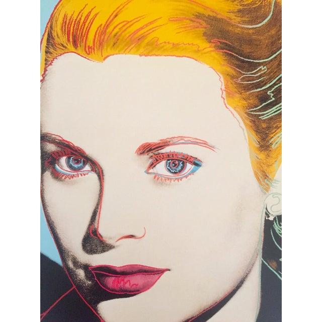 "Andy Warhol Estate Vintage 1989 Pop Art Lithograph Print "" Grace Kelly "" 1984 For Sale In Kansas City - Image 6 of 10"