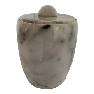 Vintage Solid Marble Ice Bucket For Sale