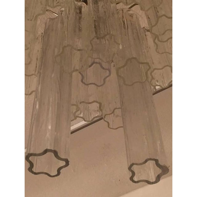 1960s Round Mid-Century Italian Tronchi Glass Chandelier For Sale - Image 5 of 8