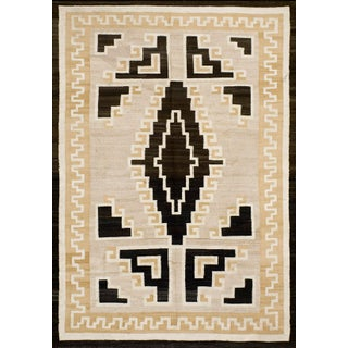 "1910s Antique Navajo Rug 5'4"" X 7'10"" For Sale"